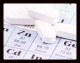 Zinc tablets on the periodic table